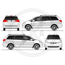sienna van vehicle outline stock vector art