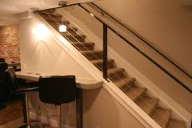 basement stairs railing cabel u2014 railing stairs and kitchen design