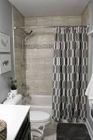 charming bathroom shower enclosures caddy kits grey patterned