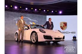 porsche 911 launch live 2017 porsche 911 launched in india at rs 1 42 crore