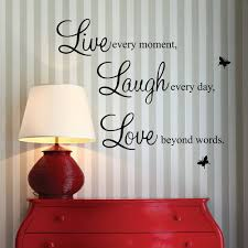 Live Love Laugh Home Decor Amazon Com Vinyl Decal Live Every Moment Laugh Every Day Love