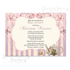 high tea invitation template