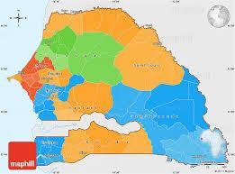 africa map senegal political simple map of senegal single color outside