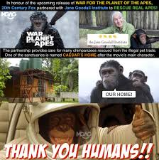 Planet Of The Apes Meme - mgag power lah caesar in real life also help apes tag facebook