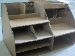 Desk Organizer Diy Cardboard Desk Organizer