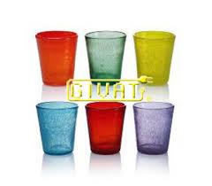 bicchieri in vetro colorati in vetro