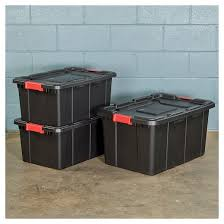 sterilite 108 qt industrial utility storage tote black with