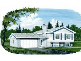 bi level house plans with attached garage interesting side split level house plans gallery best