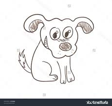 stock vector illustration of simple dog sketch
