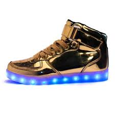 gold light up sneakers light up shoes silver black