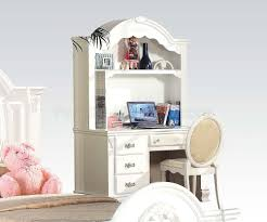 White Kids Desk With Hutch by Princess Bedroom Set Flora In White By Acme