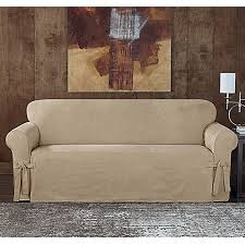 Sure Fit Twill Supreme Chair Slipcover Sure Fit Designer Sueded Twill Furniture Slipcovers Bed Bath