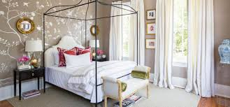 black contemporary stained metal full size canopy bed white