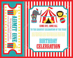 Birthday Invitation Card Design Kid Birthday Invitation Card Design Vector Illustration Royalty