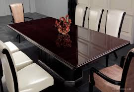 Supreme Furniture Chair Supreme Luxury Ebony Veneer And Black Crocodile Dining Table