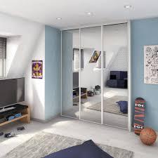 porte de placard chambre porte de placard coulissante miroir argent spaceo l 67 x h 250 cm