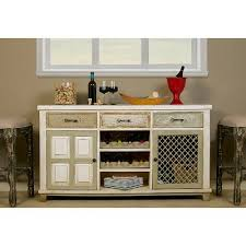 white console table with 2 door storage and wine rack rc willey