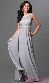 mock two piece floor length prom dress promgirl