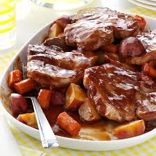 barbecued pork chop supper recipe taste of home