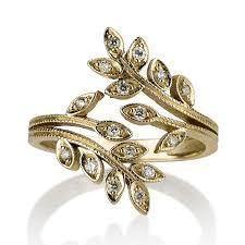 rings design leaves ring leaves diamond rings unique leaves ring 14k