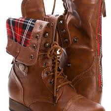 sweater lined foldover combat boots shop fold combat boots on wanelo