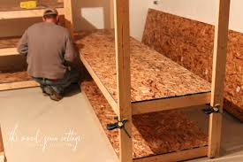 Diy Basement Flooring Diy Basement Shelving The Wood Grain Cottage
