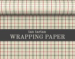 tartan wrapping paper tartan gift wrap etsy