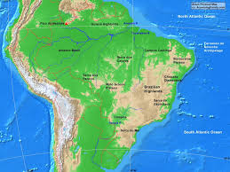 map of brazil brazil physical map a learning family