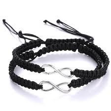 braid hand bracelet images Minimalist hand braided rope cord bracelet set infinite macrame jpg