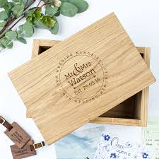 wedding gift keepsake box personalised oak keepsake box wedding memories keepsakes