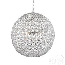 Sphere Ceiling Light Miley 66190 Pendant Ceiling Light Endon Lighting