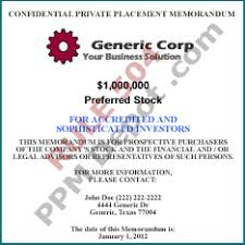 corporate preferred stock 504 ppm template