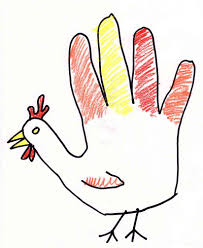 picture of a cartoon turkey for thanksgiving hand safety on thanksgiving