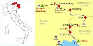 Dolomites Italy Map by Mtb U0026 Cycling Trip Dolomites Slovenia Trieste