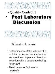 post laboratory discussion prelim titration sodium hydroxide