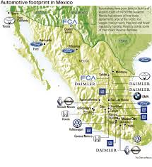 Chihuahua Mexico Map by Automakers Ramp Up Mexican Production