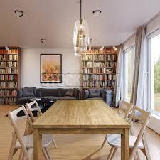 escaso solid oak wood slim dining table stockroom hong kong
