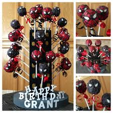 spider man and venom cake pops cake pops by me pinterest