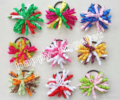korker bows renda 3 5 korker ponytail elastic hair ties holders streamer