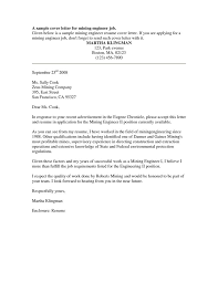 best ideas of example cover letter for mining company also cover