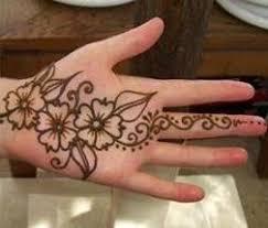 simple flower henna design for 2 flower henna
