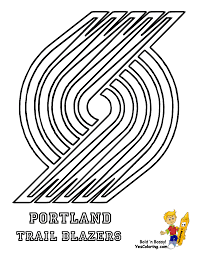 portland trail blazers logo coloring page coloring home