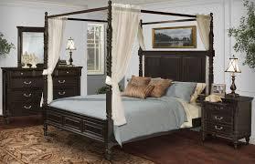 Martinique Rubbed Black Canopy Bedroom Set With Drapes From New - Black canopy bedroom furniture sets