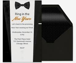 new years bow tie new year s party invitations evite