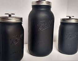 black kitchen canister sets jar canister set half gallon jars kitchen canister