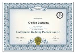 wedding planning courses the professional wedding planning course certificate kristian esgue