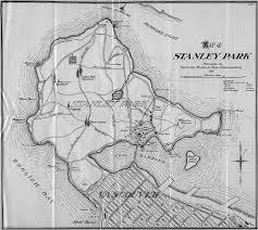 Goo Map Map Of Stanley Park 1911 Published By Vancouver Board Of Park