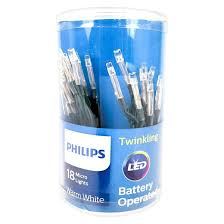 philips battery operated 18ct warm white twinkling micro mini