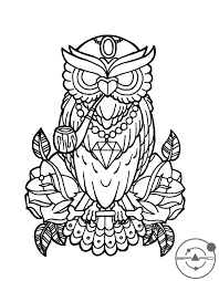 guns and roses tattos owl love coloring pages deviantart more like chrysanthemum