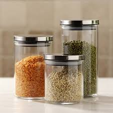 clear glass canisters for kitchen kitchen accessories three clear glass decorative canisters